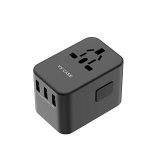 Adaptador Universal De tomadas VX Case Com 3 USBS E 2 Type-C