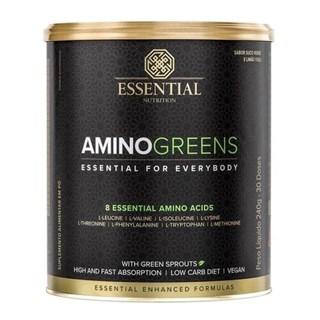 Amino Greens Suco Verde E Limão Yuzu 240G Essential Nutrition