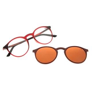 Armação Para Óculos De Grau Unissex Chilli Beans Multi Vinho Polarizado
