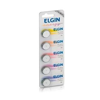 Bateria de Litio Elgin 3V CR 2016 c/5 Un