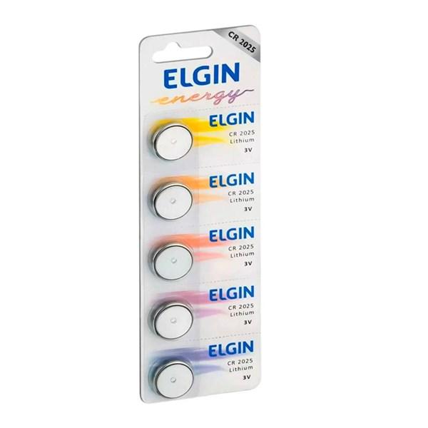 Bateria de Litio Elgin 3V CR 2025 c/5 Un