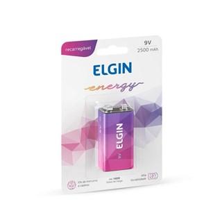 Bateria Recarregável Elgin 9v 250 Mah