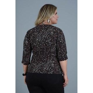 Blusa Program Moda Plus Size Luciene Em Malha Tricot Transpassada-212991-24B
