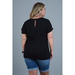Blusa Program Moda Plus Size Mariane Em Malha Com Detalhe E Chifon-212996