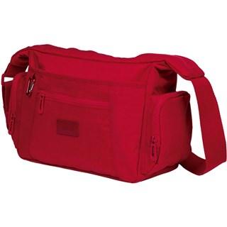 Bolsa Carteiro Classic Crinkle-Vermelho