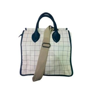 Bolsa Mr. Cat Shopping Bag Lona Quadriculada Feminino