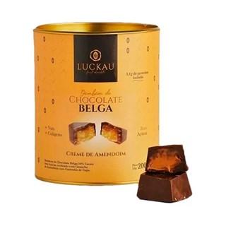 Bombom De Chocolate Belga 54% Recheado Com Amendoim Luckau Finest Chocolate