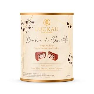 Bombom De Chocolate Belga Ao Leite Super Cream Com Cookie Luckau Finest Chocolate