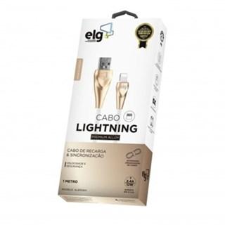 Cabo ELG Lightning para Smartphones Conector de Alumínio 1m Branco