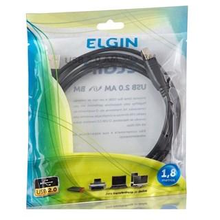 Cabo USB 2.0 Elgin 1,8m para Impressora Preto