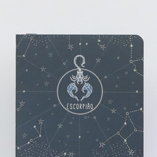 Caderneta Capa Flex Pontilhada Zodíaco Magnólia - Escorpião