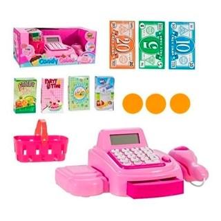 Caixa Registradora Com Luz Som Brinquedo Infantil 15 Peças Art Brink 841398