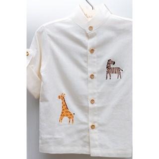 Camisa Kidstar Linho OFF Savana