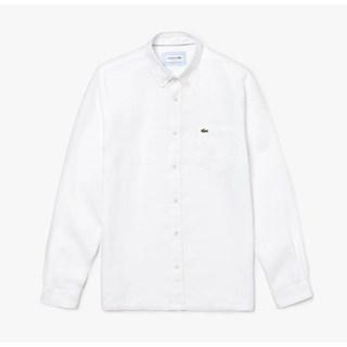 Camisa Lacoste Masculina Regular Fit Em Linho CH4990-22