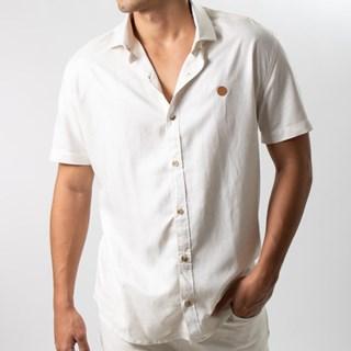 Camisa Mitchell Viscose Linho Manga Curta 01001-3081