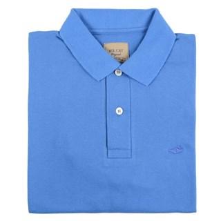 Camisa Mr.Cat New Polo Tradicional Azul Anil