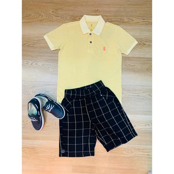 Camisa Pineapple Polo Stonado Amarelo
