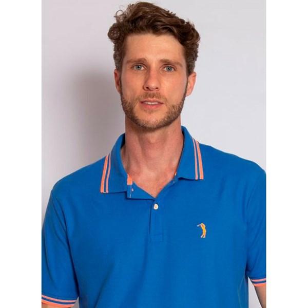 Camisa Polo Aleatory Fantastic Azul