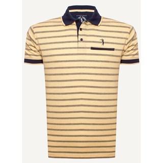 Camisa Polo Aleatory Listrada Back Amarelo