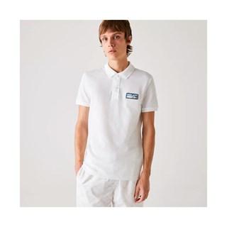 Camisa Polo Lacoste Masculina Slim Fit Em Piqué De Algodão Liso Com Emblema REF PH1891-21