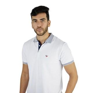 Camisa Polo Style Lisa Com Detalhe