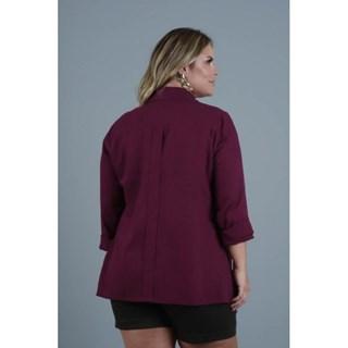 Camisa Program Moda Plus Size Fabíola Oversize Em Linho Com Mangas-217156-24E