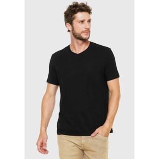 Camiseta Hering Mm Básica Com Decote V Masculina 022BN1007S