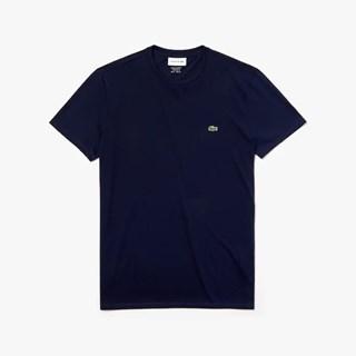 Camiseta Lacoste Masculina Em Jérsei De Algodão Pima Com Gola Redonda TH6709