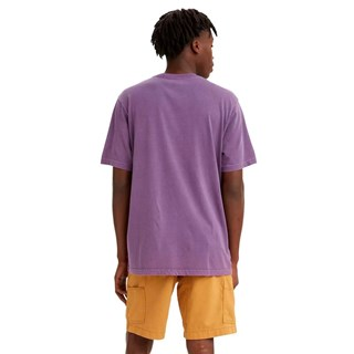 Camiseta Levis Logo Relaxed Fit Masculina Roxo