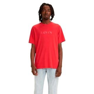 Camiseta Levis Logo Relaxed Fit Masculina Vermelho