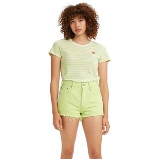 Camiseta Levis Perfect Tee Feminina Verde Listras