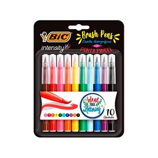 Caneta Hidrográfica Bic Intensity Brush Pens Cores Sortidas 10 Un