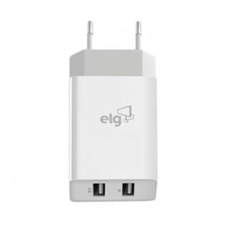 Carregador de Parede ELG USB 2 Saidas