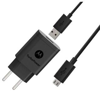 Carregador de Parede Motorola 18W Micro USB Preto