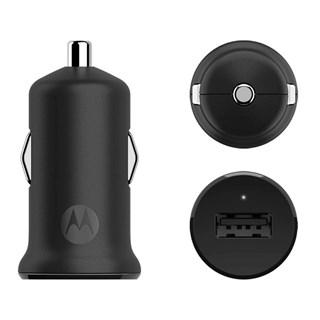 Carregador Veicular Motorola Turbopower 15W com Cabo USB Preto