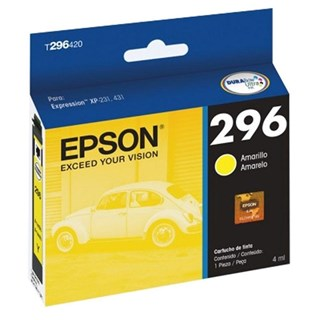 Cartucho de Tinta Epson 296 Amarelo 250 Páginas T296420-BR