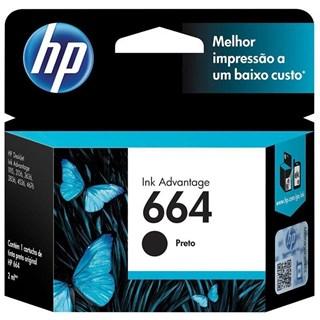 Cartucho HP 664 Preto Original F6V29AB Para HP
