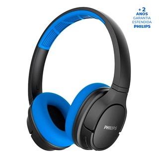Fone de Ouvido Philips Bluetooth TASH402BL/00 Azul e Preto