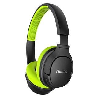 Fone de Ouvido Philips Bluetooth TASH402LF/00 Verde e Preto
