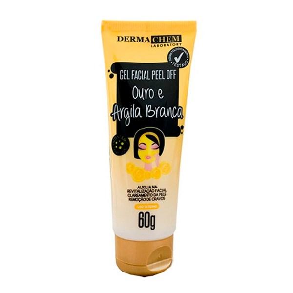 Gel Facial Peel Off Ouro E Argila Branca Dermachem 60g