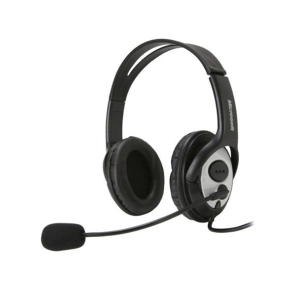 Headest Microsoft USB c/ Microfone LifeChat LX-3000 Preto