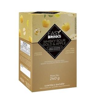 Kit 6 Saches Whisky Sour Gold & Apple Easy Drinks 240g