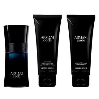 Kit Perfume Armani Armani Code Black Edt Masculino +G75+B75 Spring
