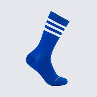 Meia Clássica Cruzeiro Do Sul Stripes Infantil 5/8 Azul e Branco