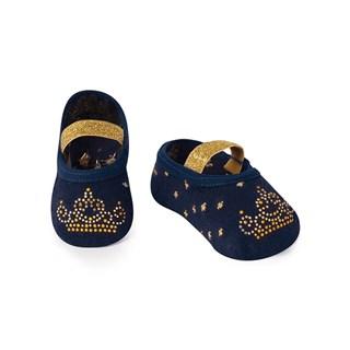 Meia Sapatilha Boneca Aplique Princesa Azul Marinho Puket