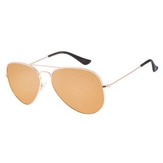 Óculos De Sol Unissex Chilli Beans Aviador Polarizado Dourado
