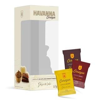 Pack Havanna Coração Misto Doce de Leite 117g - Caixa c/ 18 und