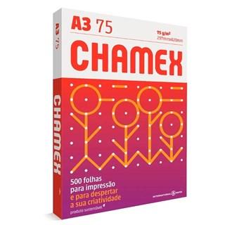 Papel Chamex A3 75g/m² 297 x 420mm Multi Branco 500Fls
