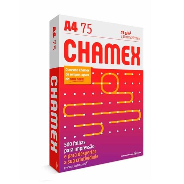 Papel Chamex A4 75g/m² 210 x 297mm Office Branco 500Fls