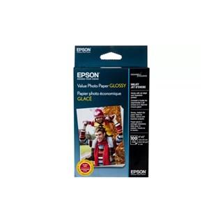 Papel Fotográfico Epson p/ Jato de Tinta 10x15cm 100 Fls Glossy 183g/m²